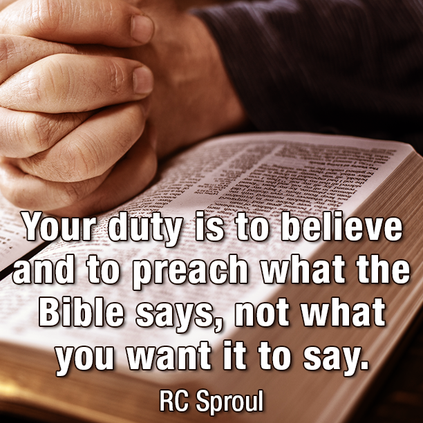 Your duty is to believe