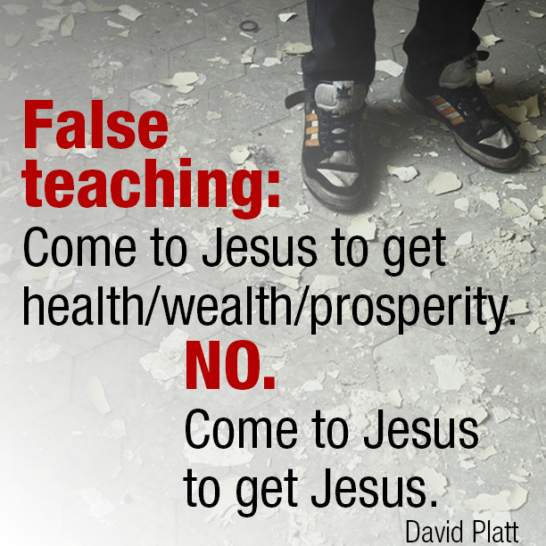 False teaching: Come to Jesus