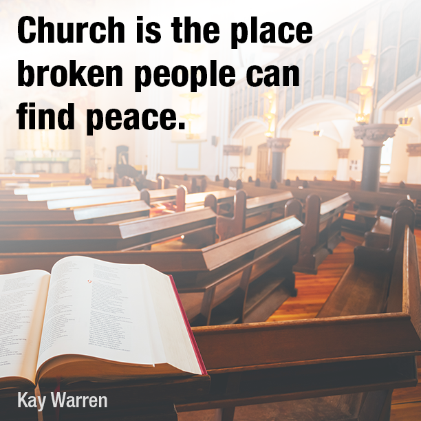 Church is the place broken