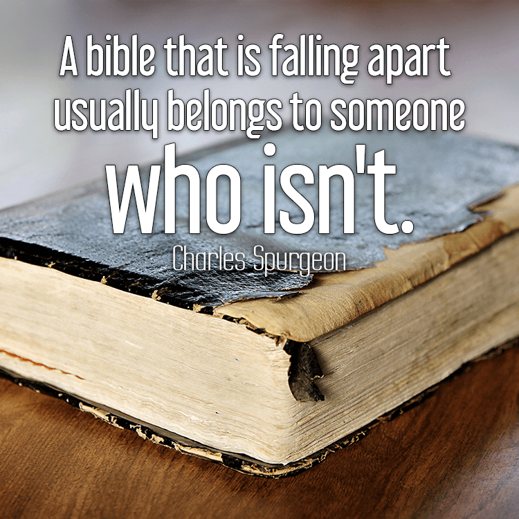 bible that is falling apart usually belongs to someone who isn't ... Quotes About Falling Apart