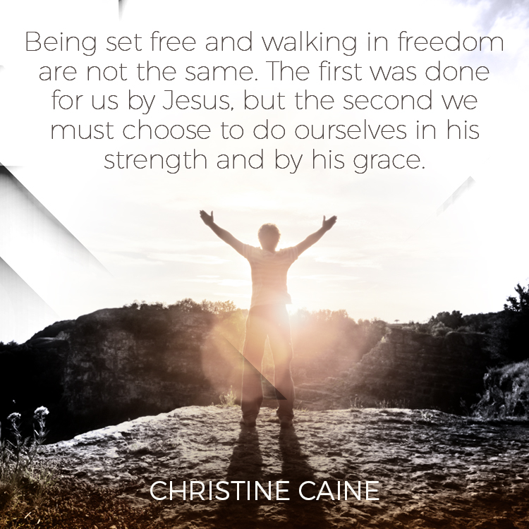 Being Set Free And Walking In Freedom Are Not The Same