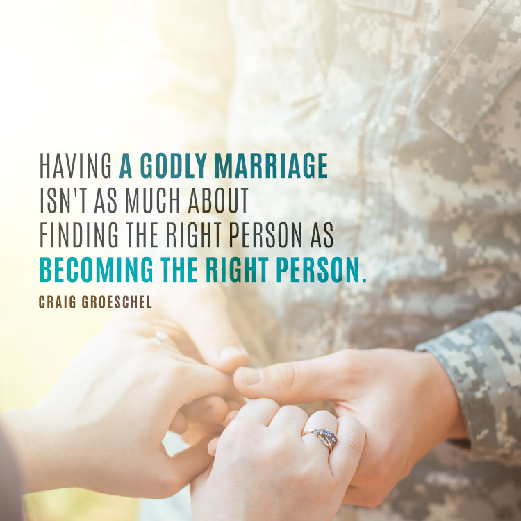 Having a godly marriage isn't as much about finding the right person... -  SermonQuotes