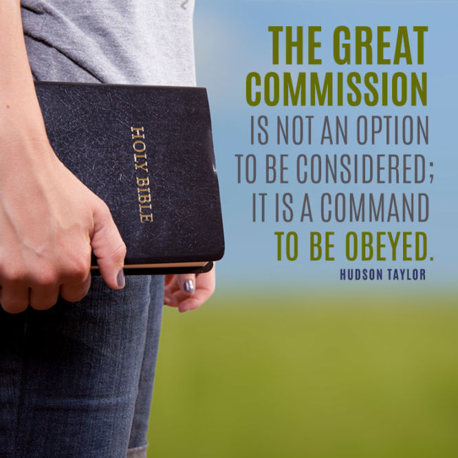 The great commission is not an option to be considered...