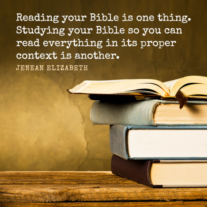 Reading your Bible is one thing. Studying your Bible so you can read...