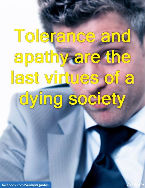 tolerance-apathy